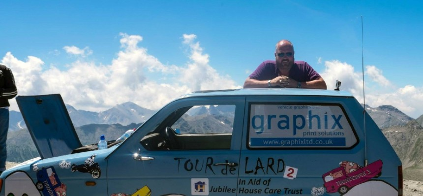 Raising £25,000 with the 'Tour de Lard' team